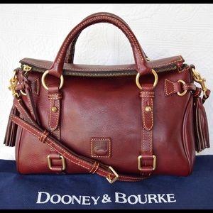 Dooney & Bourke Florentine Crimson Leather Satchel